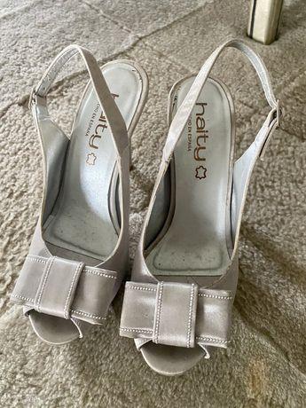 Sandalias cinza prata 36 haiti