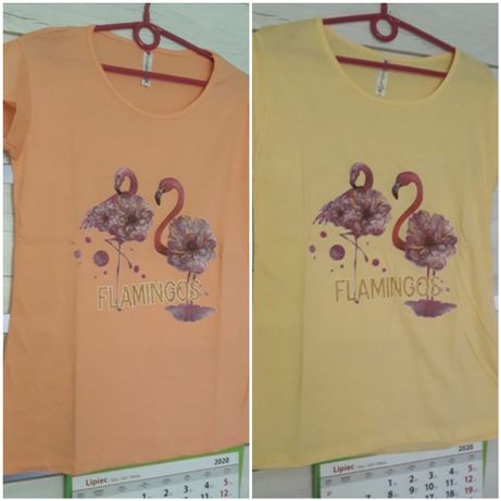 T-shirt z flamingami
