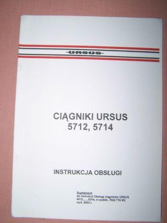 instrukcja obsługi Ursus 5712,5714 oryginał PL NOWA