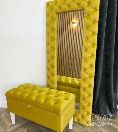 Комплект в коридор банкетка каретная вешалка диван прихожая обувница 