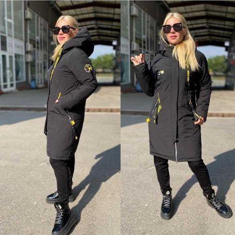 Стильная женская зимняя куртка- парка Аляска размеры 44- 50