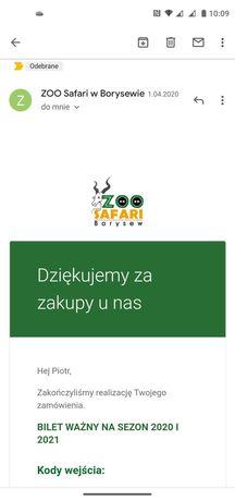 Bilety do zoo Safari w Borysewie, 2 +1