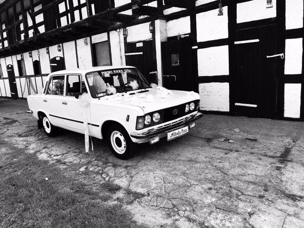Auto do Ślubu Biały Fiat 125p