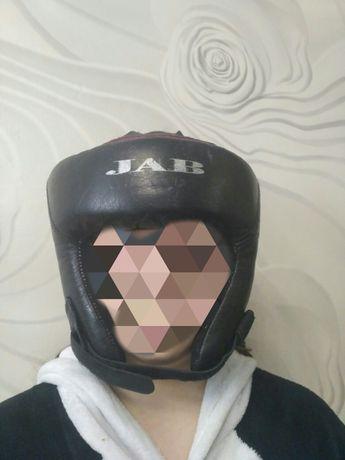 Боксерский кожаный шлем JAB