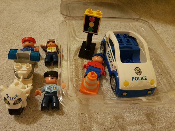 Klocki LEGO motor, samochód, ludziki