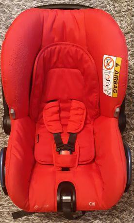 Fotelik samochodowy nosidełko Maxi Cosi + folia + adaptery