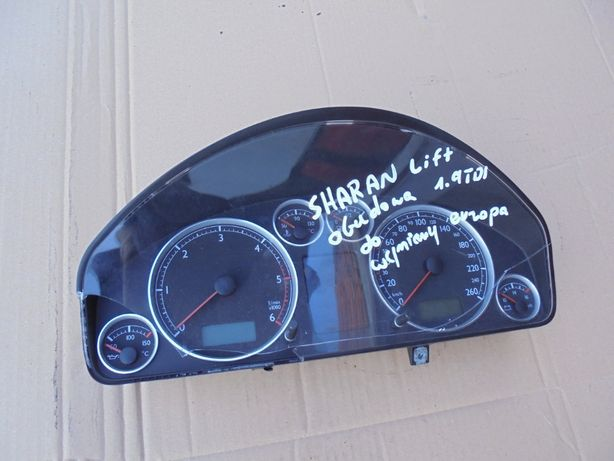 VW SHARAN LIFT 00-10r 1,9 TDI licznik zegary FIS europa