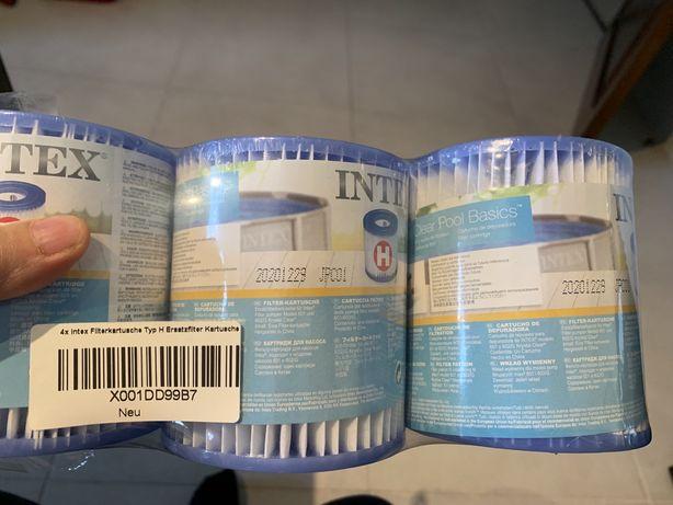 Pack de 4 filtros da marca Intex tamanho h