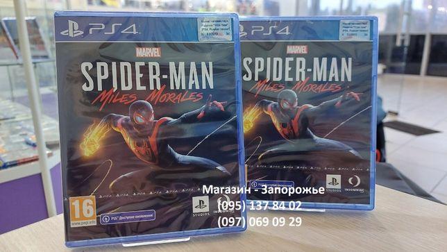 Новый диск Marvel Spider-Man Miles Morales (Рус.) для PS4. В наличии!