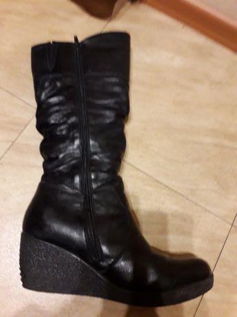 Buty skórzane zimowe