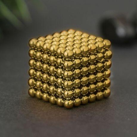Неокуб neocube 216 магнитных шариков 5мм в боксе золотой