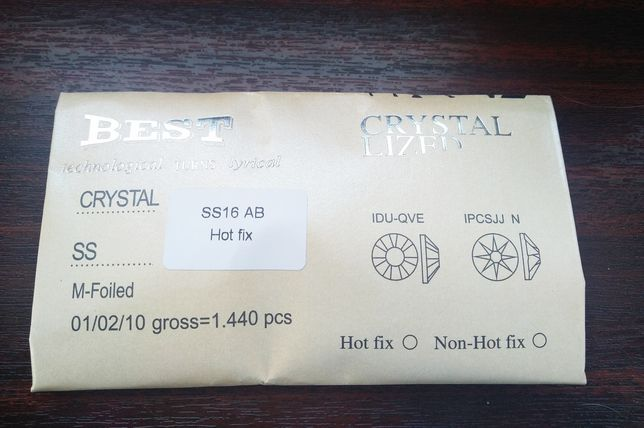 Стразы клеевые ( термостразы) SS16AB 1440 шт горячей фиксации