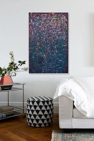 Obrazy Abstrakcja akryl, 75x115 cm, 60x80 cm, 100x100 cm. Różne motywy