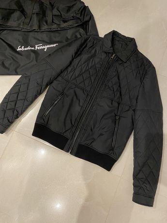 Куртка  черная оригинал Salvatore Ferogamo