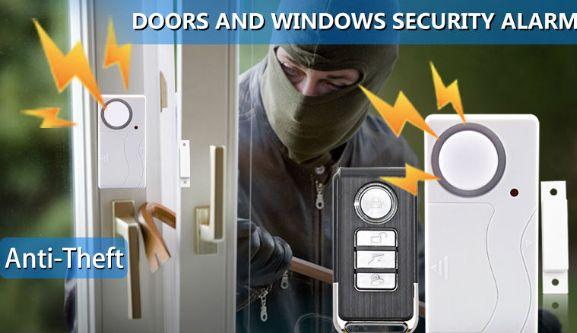 Беспроводная сигнализация с пультом на окна двери домашняя, гаражная,