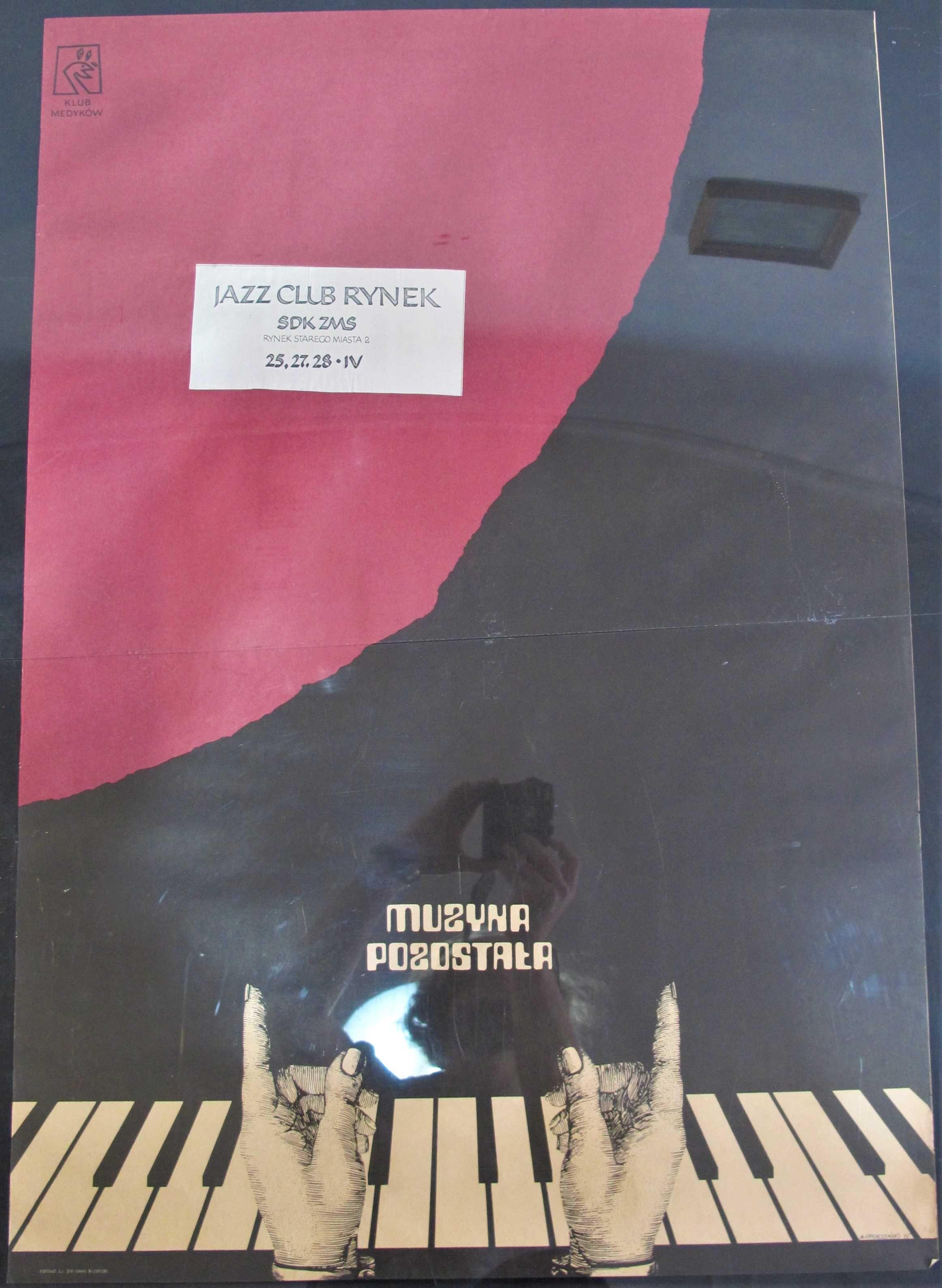 Plakat Muzyka Pozostała Klub Medyków 1975 B1