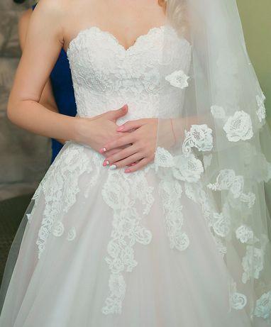 Продам пудровое свадебное платье