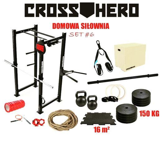 Zestaw sprzętu do domowej siłowni CrossFit #6 brama gryfy bumpery