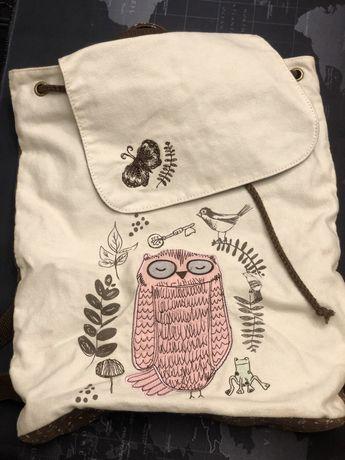 Plecak z motywem sowy