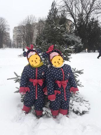 Зимний комбинезон для двойни