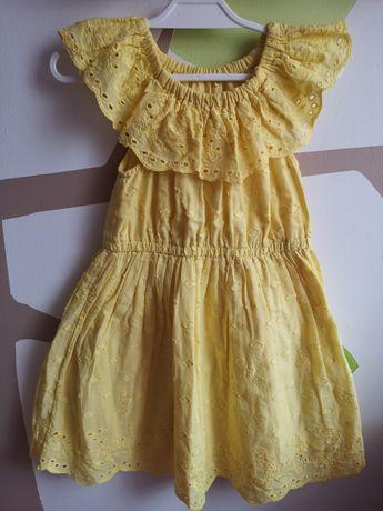 Sukienka George 98-104 hiszpanka żółta lato jak nowa