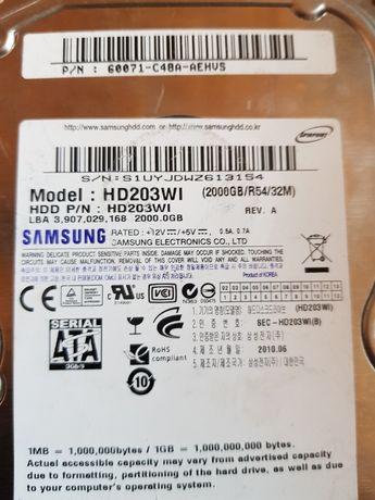 Dysk HDD 3,5 SATA Samsung 2TB uszkodzony + gratis 2,5 cala