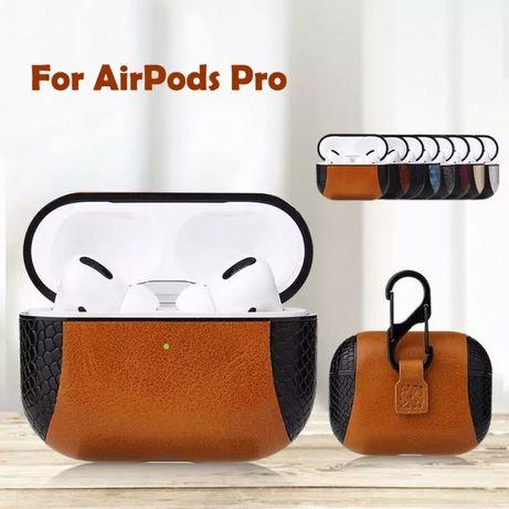 Кожаный чехол для наушников AirPods Pro