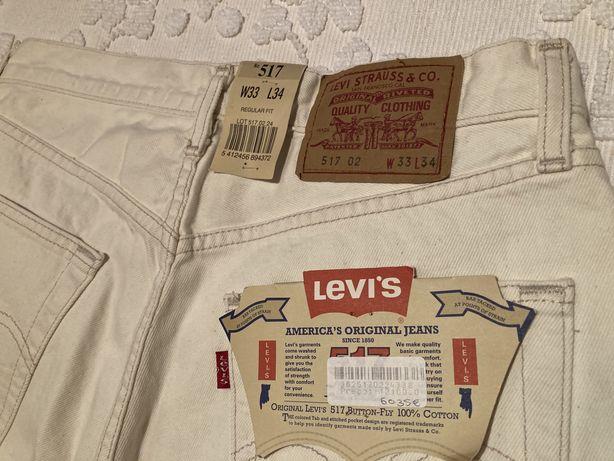 Calças Levi's 517 W33L34 brancas NOVAS
