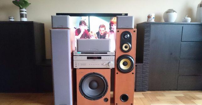Kino domowe Sony HTP355 Subwoofer Aktywny, Technics RS-B605 dbx silver