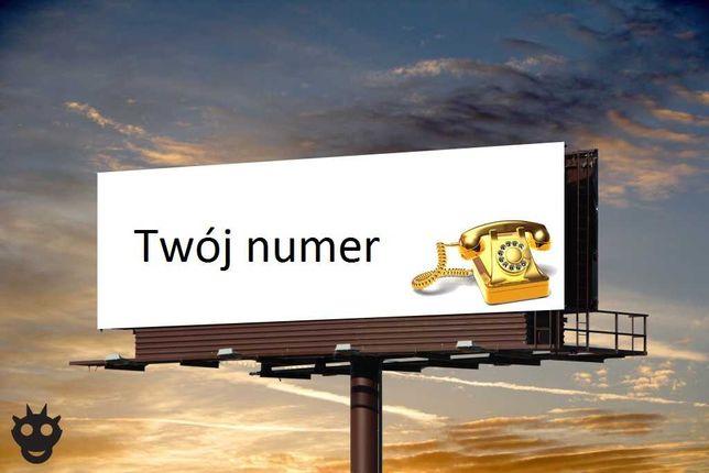 Złoty numer (łatwy do zapamiętania) sprawnie od ręki, bez abonamentu.