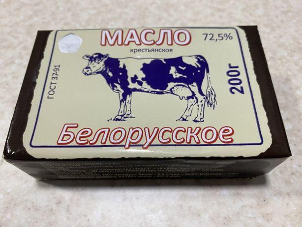 "Масло 72,5% ""Белорусское"" пачка 200 г"