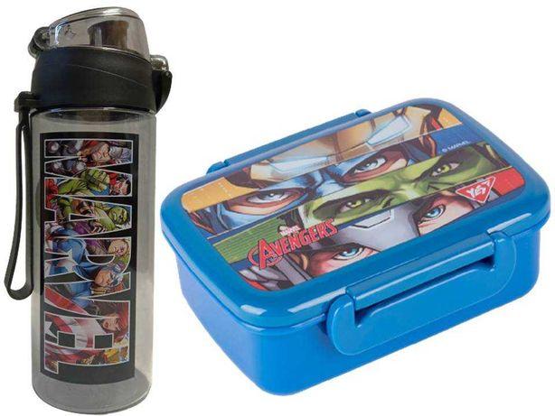Набор Marvel - Мстители: ланчбокс и бутылка, для мальчика, для школы