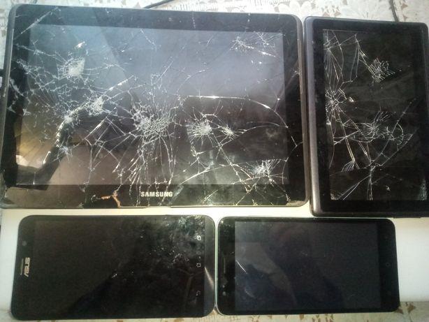 Продам на запчасти телефоны,планшеты. Требуется замена модуля,а так в