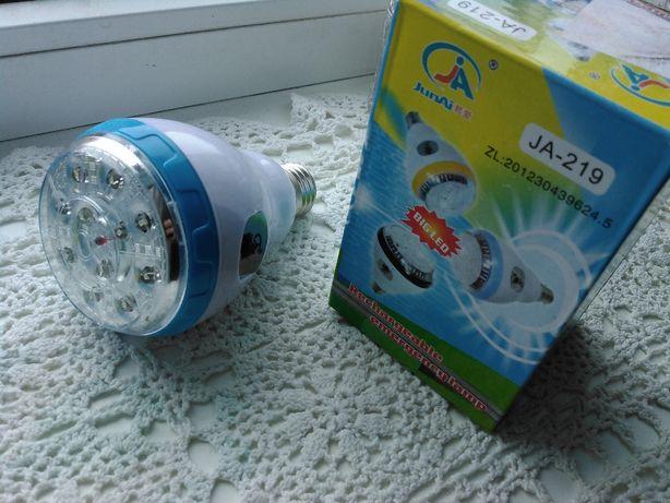 LED лампа акумуляторна Junai JA-219 (энергосберегающая)