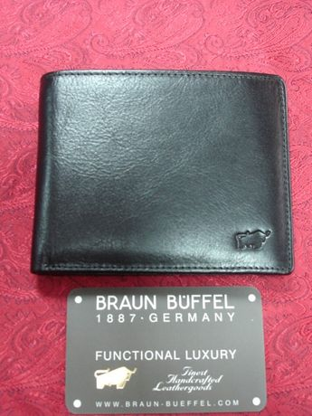 Portfel BRAUN BUFFEL nowy czarny pierre cardin MADE IN GERMANY