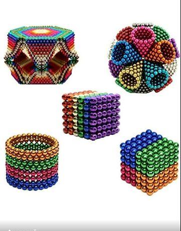 Конструктор головоломка цветной Неокуб NeoCube Радуга 216 шариков
