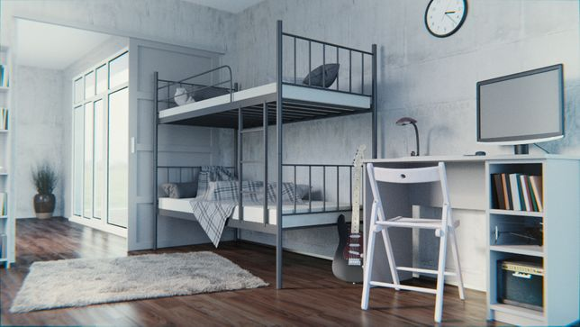 Łóżko metalowe piętrowe młodzieżowe RICO Super jakośc!