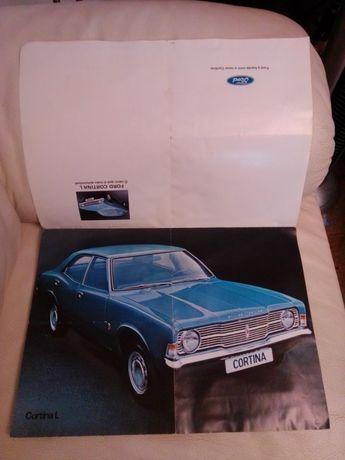 Folheto Ford Cortina L/Renault 12 e da Carrinha Opel Astra