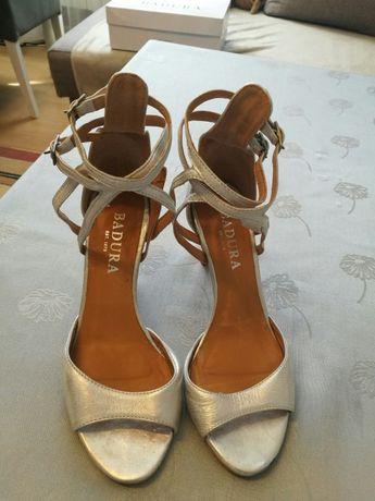 Srebrne sandały BADURA R.36