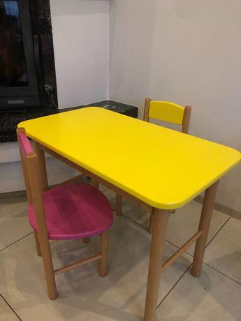 Komplet drewniany stolik i krzesełka dla dziecka