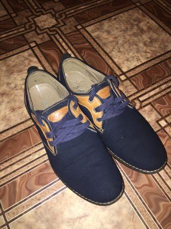 Туфли мужские на мальчика модные стильные молодежные синие замшевые