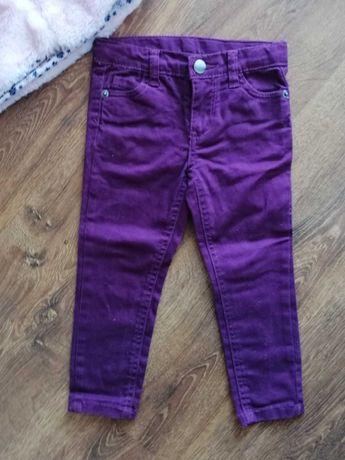 Jeansowe fioletowe spodenki dla dziewczynki