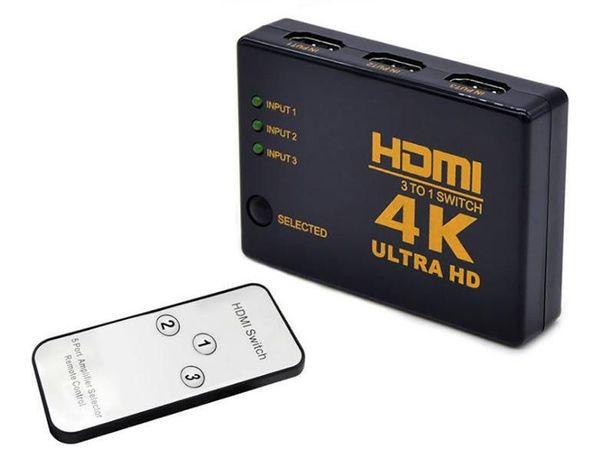 Comutador HDMI 4K Ultra HD - 3 portas Novo em caixa