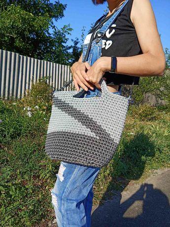 Вязанная сумка (ручная работа)