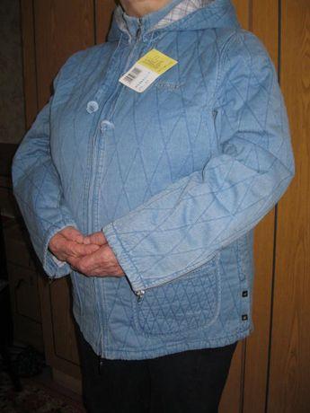 450грн.Джинсовая Куртка с капюшоном, новая (ветровка, парка ) р.48-52