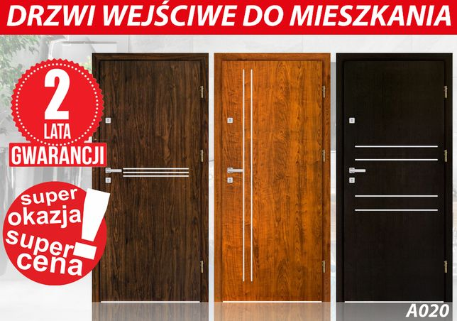Drzwi ZEWNĘTRZNE -wewnętrzne drewniane i metalowe z MONTAŻEM GRATIS