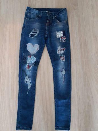 Spodnie jeansowe damskie dziewczęce Monday rozmiar Xs
