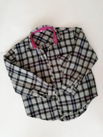 Тёплая рубашка с карманчиком