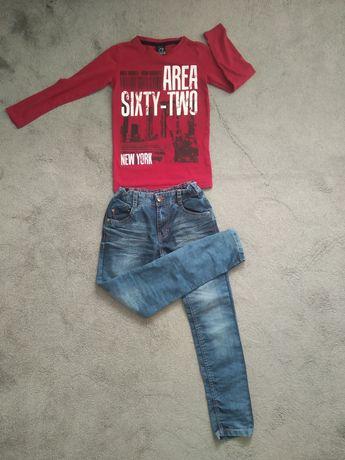 Spodnie koszulka zestaw dla chłopca 134/140