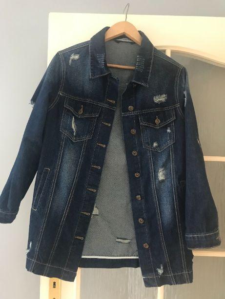 Narzutka katanka kurtka jeansowa oversize 36 S nie Zara